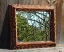 Antique Tramp Art Mirror
