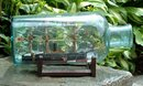 Antique Japanese Ship in a bottle circa 1860
