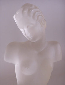 Frosted glass figure of a woman after Lalique
