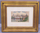 Felix Hopner watercolor of Hamburg Germany