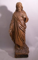 South Netherlandish Flemish  carved figure Jesus 18thc