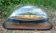 Antique English Yacht Gig Ship Model c 1860 to 1880