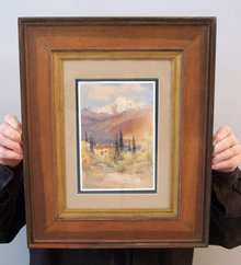 William A. MacDonald watercolour of a Lake Como Villa