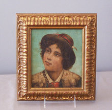 18th c. Italian portrait oil painting canvas young man