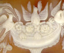 Unframed carved Victorian cameo of an urn with doves