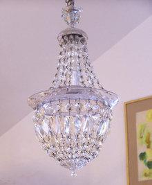 Empire style vintage crystal hallway chandelier