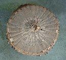 Vintage Maine Woodland Indian Lidded Splint Basket