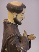 Mexican carved  painted figure of Saint Francis