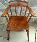 Antique  Bow Back Windsor Smokers Arm Chair
