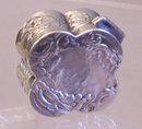 Antique Dutch silver clover shape box c1820