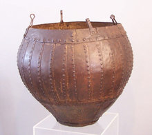 Early Himalayan hand wrought iron storage vessel