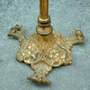 Antique  French Brass  Bead work fire screen