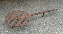 Antique Rotating Iron fire place Broiler 18thc