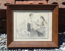 Jennie Fannie Burr Doctoring Chickens c1900