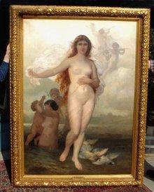 Wilhelm Kray antique painting Venus Aphrodite