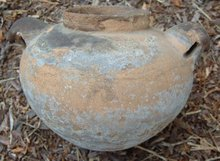 Pre Columbian rams head storage vessel
