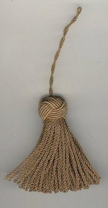 Gold Metallic Turkish key tassel
