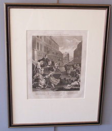 William Hogarth engraving Second Stage of Cruelty c1799