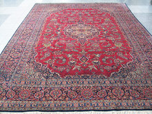 Kashan Persian oriental carpet or rug c1930 Red floral