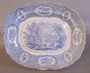Ridgeway  Staffordshire Egyptian platter light blue