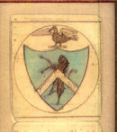 18th century family crest with motto 1780