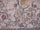 Early Italian silk embroidered chalice cover c1710