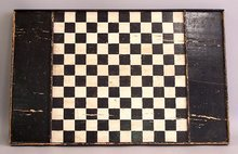 Antique Wooden Game Board Checkers or Chess c1800