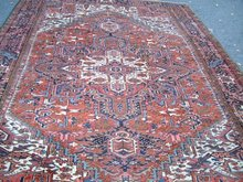 Semi Antique Heriz Room Size Oriental Rug c1930