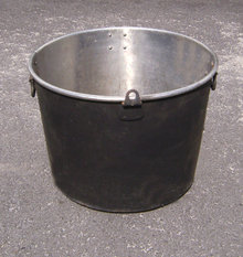 cauldrons bucket buckets wood holders cooking