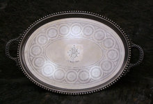 trays silver plate sheffield tea service