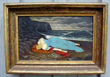 paintings folkart seascapes american