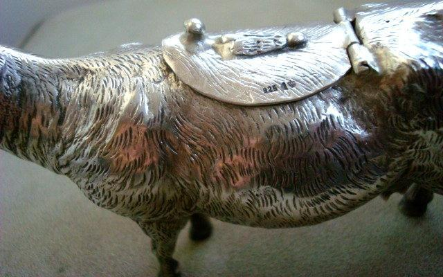 SILVER COW CREAMER / STERLING / PRE-1940s GERMANY