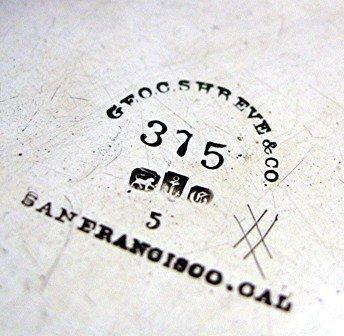 c.1860 MEDALLION BUTTER DISH /GORHAM COIN SILVER 3-PIECE