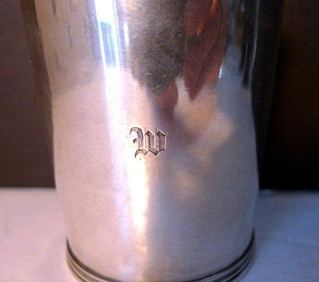 COIN SILVER JULEP CUP/EARLY BAILEY & CO. PHILADELPHIA C. 1840