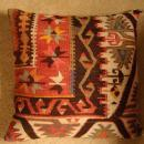 TURKISH KELIM PILLOWS 1920s-1930s PAIR AUTHENTIC ANTIQUE BESSARABIAN