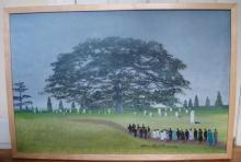 HELEN LaFRANCE PAINTING/FUNERAL IN THE FOG O/C p. 92