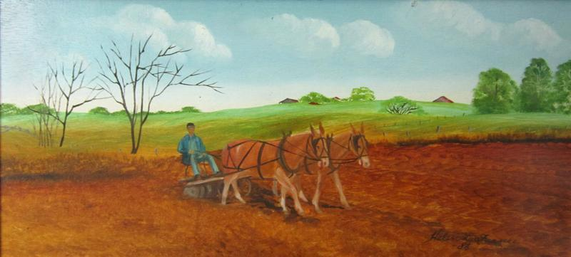 HELEN LaFRANCE PAINTING/ PLOWING O/B 1986