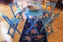Reproduction French Folding Table Chair Set