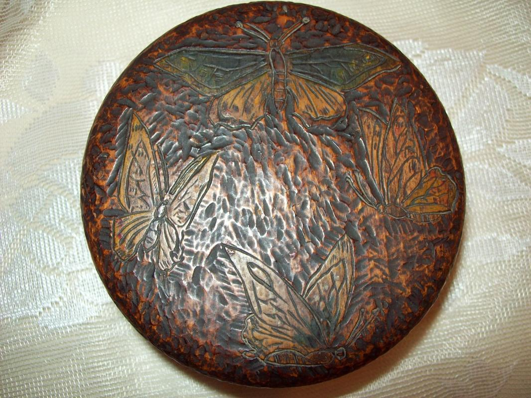 Pyrography Trinket Box / Powder Box