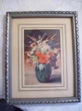 Roch Print in Silvertone Frame