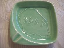 Jade Green IASA Ashtray by Haeger