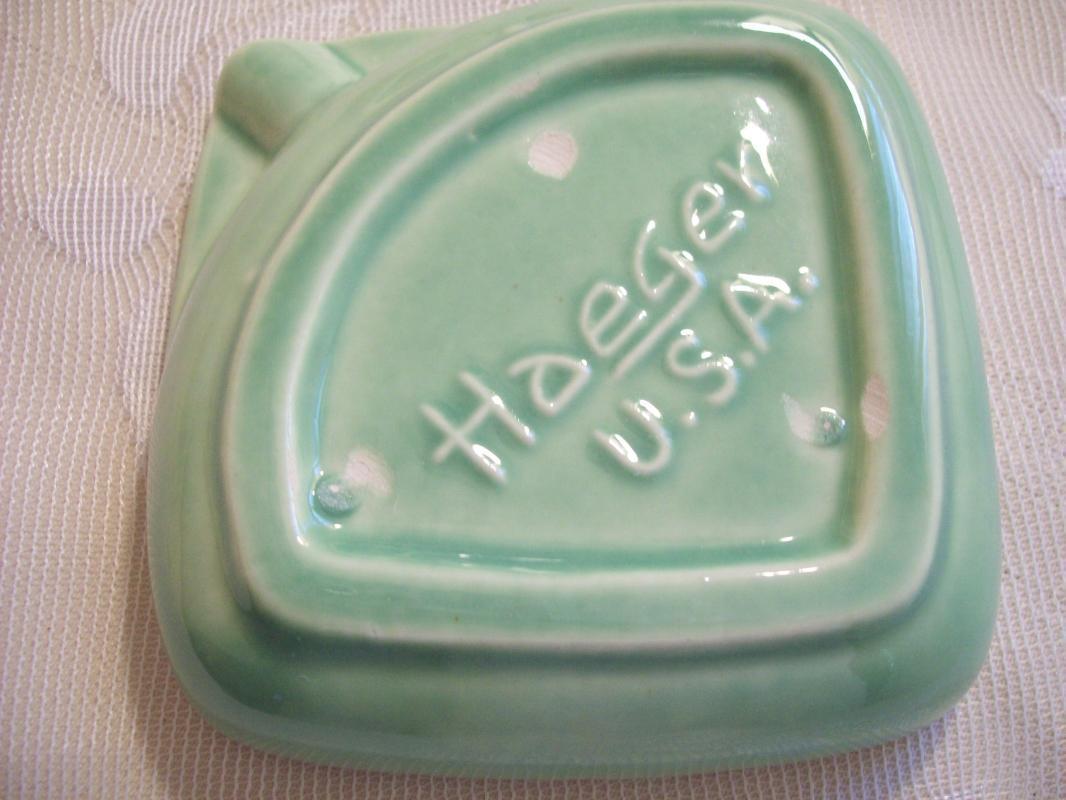 Jade Green IASA Ashtray by Haeger
