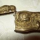 Art Nouveau Patinated Brass Match Safe - Matchsafe