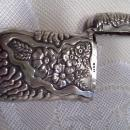 Pairpoint Sterling Floral Match Safe - Matchsafe