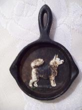 Cast Iron Dog Mini Pan Souvenir Ashtray