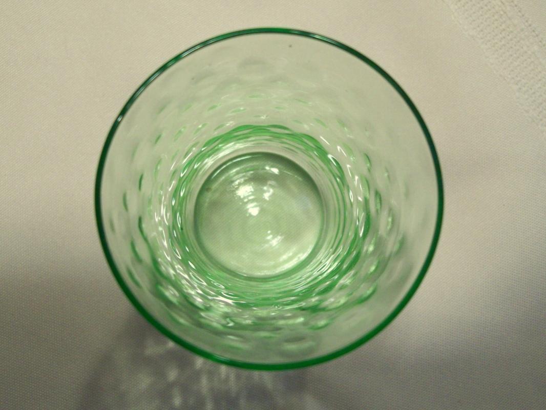 Little Green Coin-dot Juice Glass