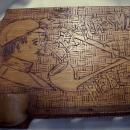 Pyrography Pipe Rack & Match Holder Wall Plaque