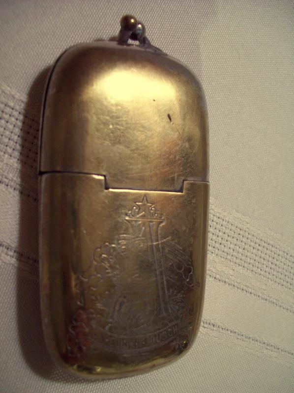 ANHEUSER BUSCH Brass Matchsafe - Match Safe