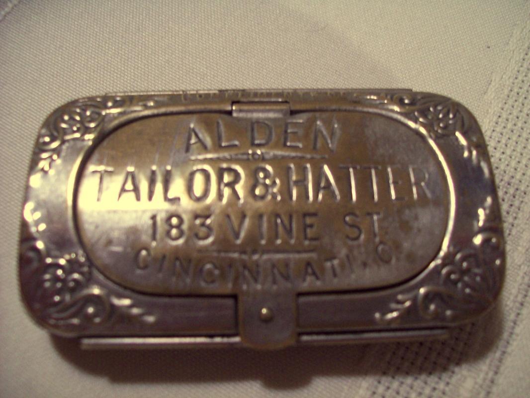 ALDEN TAILOR & HATTER Stamp & Match Safe - Matchsafe