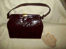 Vintage Reptile Handbag - Purse
